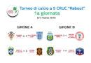 """Risultati prima giornata e classifiche Torneo di Calcio a 5 """"Reboot"""""""