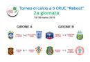"""Risultati seconda giornata e classifiche Torneo di Calcio a 5 """"Reboot"""""""