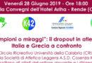 """Convegno """"Campioni o miraggi"""": il dropout in atletica. Italia e Grecia a confronto"""